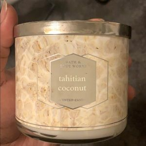 NEW TAHITIAN COCONUT 3 WICK CANDLE